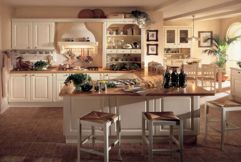 Cucine classiche treante for Cucine classiche con isola centrale
